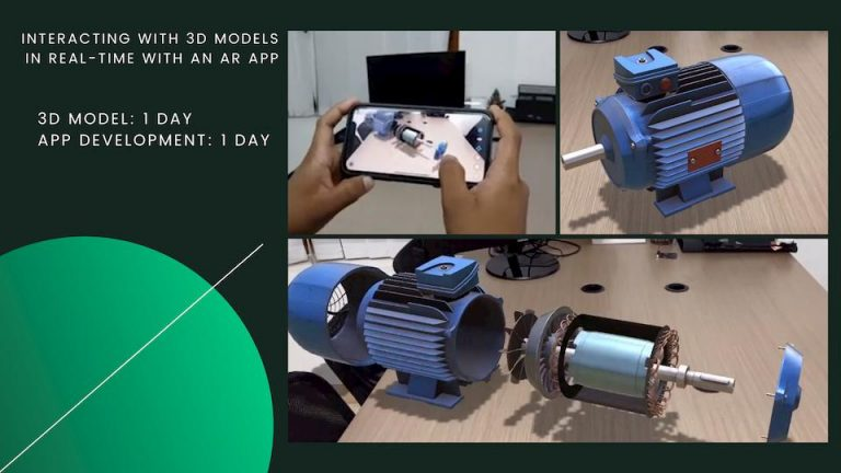 3d rendering of water motor by vr development company in india