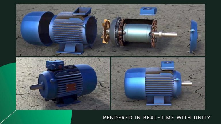 3d rendering of motor by ar development company in india